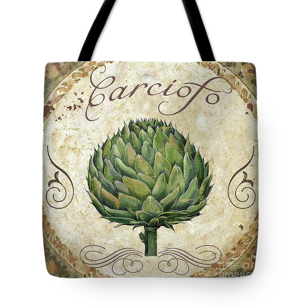 Mangia Artichoke Tote Bag by Mindy Sommers