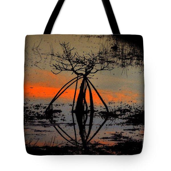 Mangrove Silhouette Tote Bag by David Lee Thompson