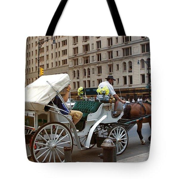 Manhattan Buggy Ride Tote Bag by Madeline Ellis
