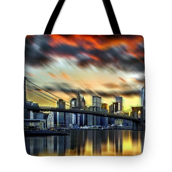 Manhattan Passion Tote Bag by Az Jackson