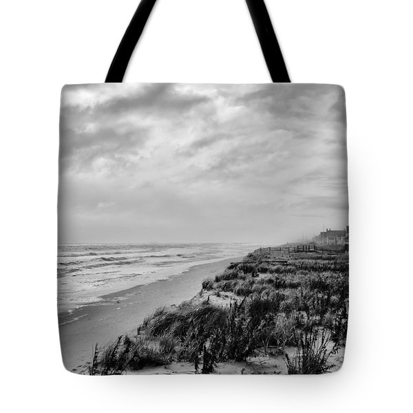 Mantoloking Beach - Jersey Shore Tote Bag by Angie Tirado-McKenzie