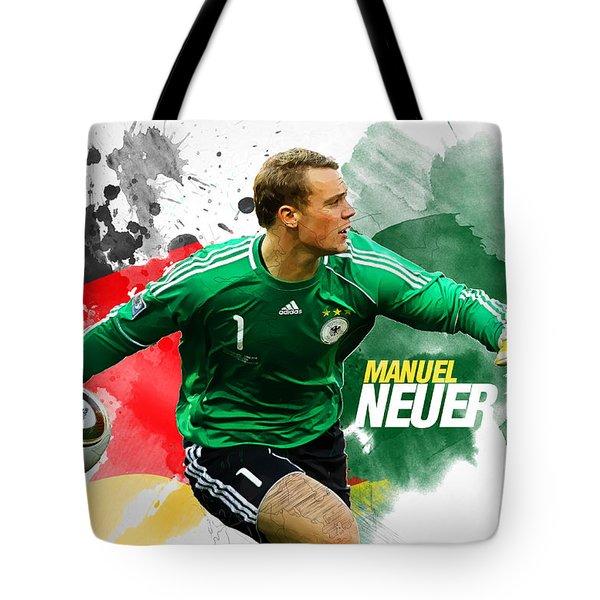 Manuel Neuer Tote Bag by Semih Yurdabak