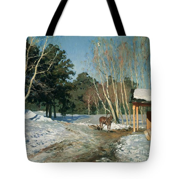 March Tote Bag by Isaak Ilyich Levitan
