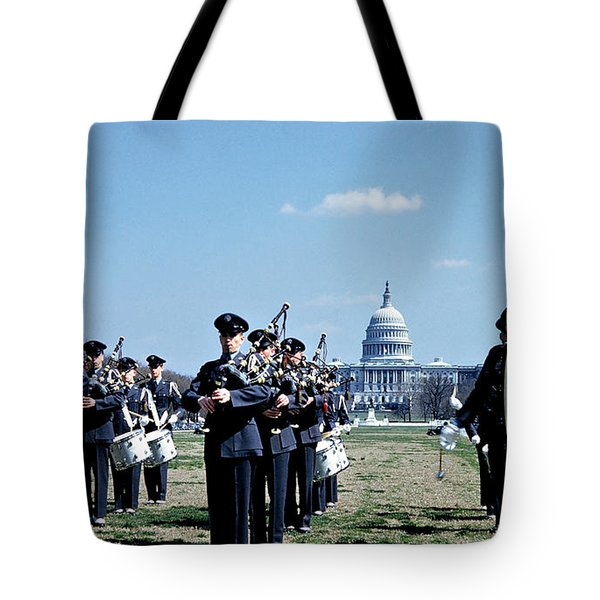Marching Band At Capitol Tote Bag by Marilyn Hunt