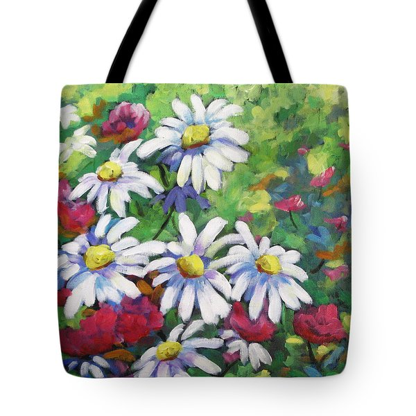 Marguerites 001 Tote Bag by Richard T Pranke