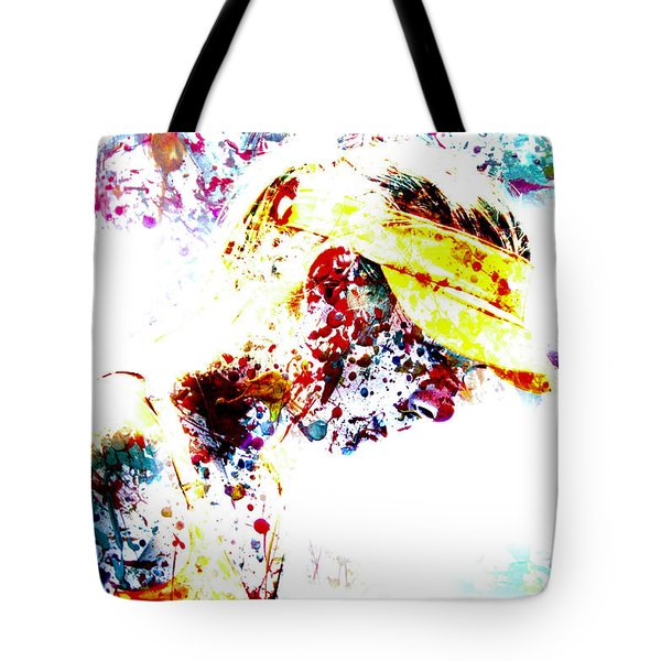 Maria Sharapova Paint Splatter 4p                 Tote Bag by Brian Reaves