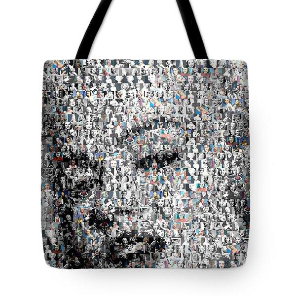 Marilyn Monroe Mosaic Tote Bag by Paul Van Scott