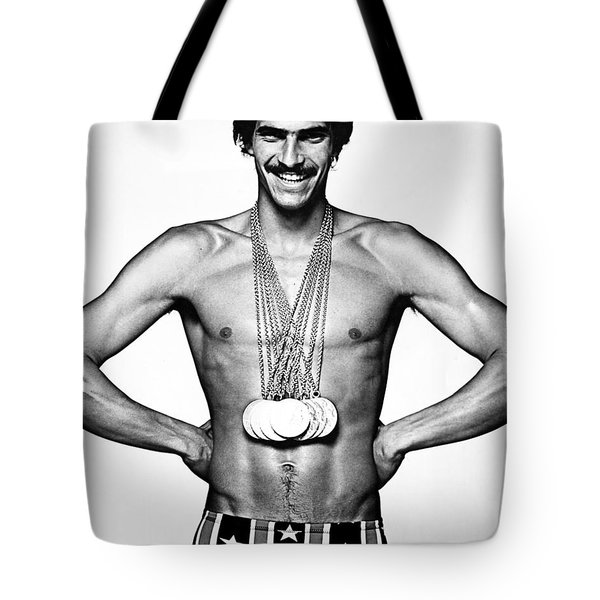 Mark Spitz (1950- ) Tote Bag by Granger