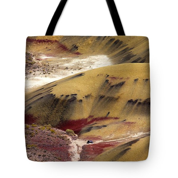 Marked Hills Tote Bag by Mike  Dawson