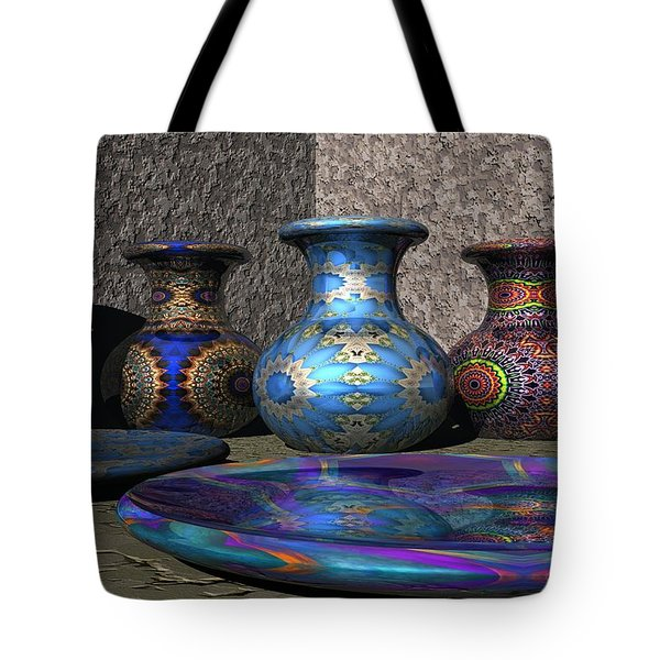 Marrakesh Open Air Market Tote Bag by Lyle Hatch