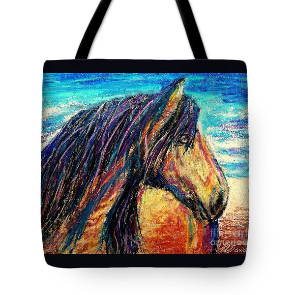 Marsh Tacky Wild Horse Tote Bag by Patricia L Davidson