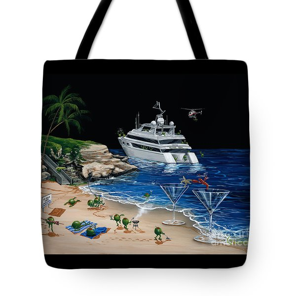 Martini Cove La Jolla Tote Bag by Michael Godard