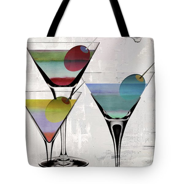 Martini Prism Tote Bag by Mindy Sommers