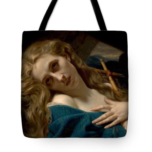 Mary Magdalene In The Cave Tote Bag by Hugues Merle