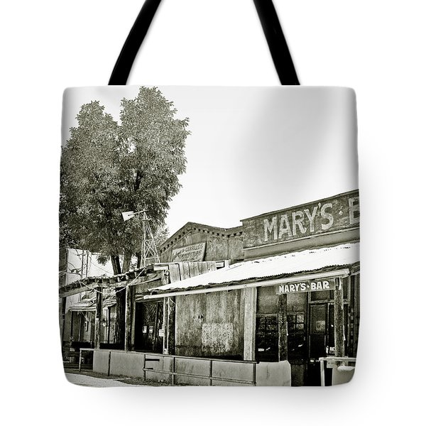 Mary's Bar Cerrillo NM Tote Bag by Christine Till
