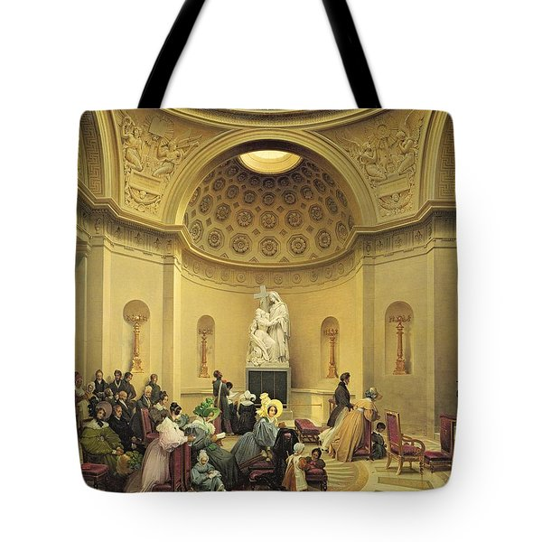 Mass In The Expiatory Chapel Tote Bag by Lancelot Theodore Turpin de Crisse