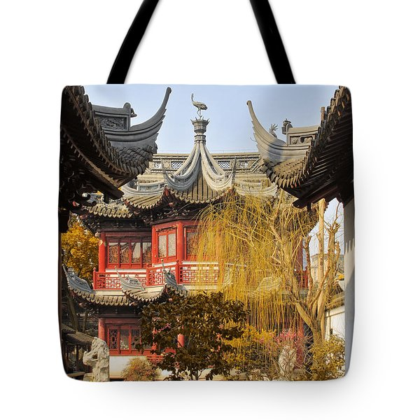 Massive Upturned Eaves - Yuyuan Garden Shanghai China Tote Bag by Christine Till