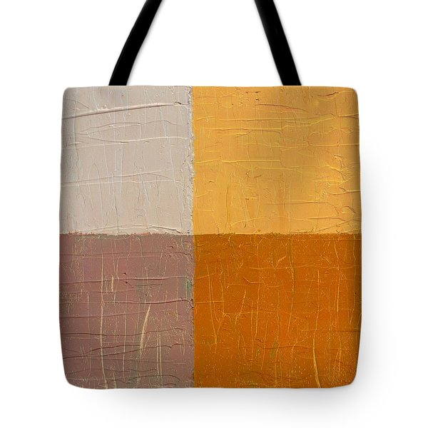Mauve and Peach Tote Bag by Michelle Calkins