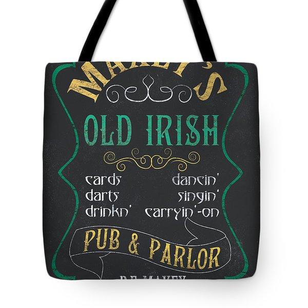 Maxey's Old Irish Pub Tote Bag by Debbie DeWitt