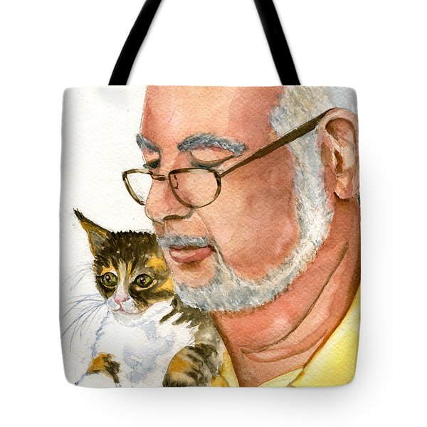 Maya Loves Her Papa Tote Bag by Marsha Elliott