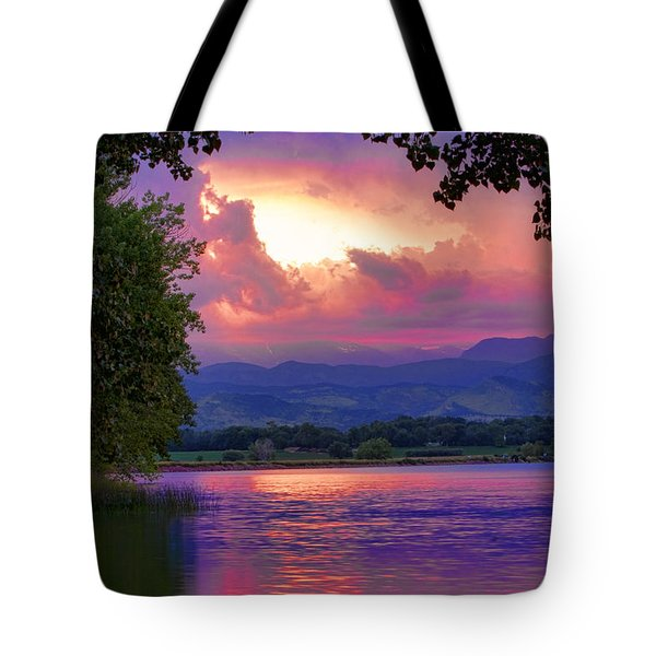 McIntosh Lake Sunset Tote Bag by James BO  Insogna