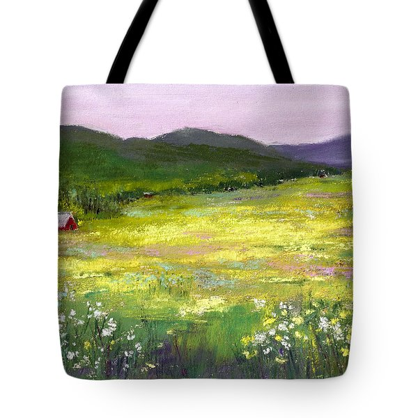 Meadow Of Flowers Tote Bag by David Patterson