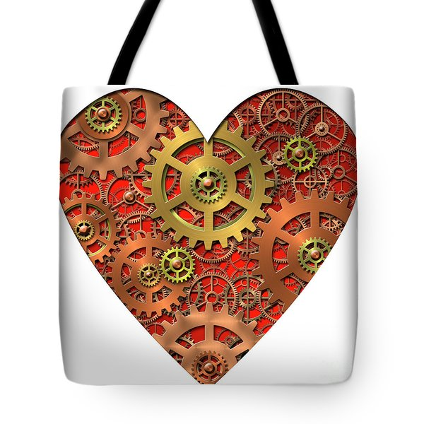 mechanical heart Tote Bag by Michal Boubin