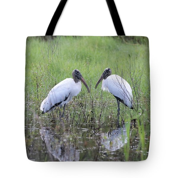 Meeting Of The Minds Tote Bag by Carol Groenen