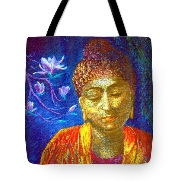 Meeting With Buddha Tote Bag by Jane Small
