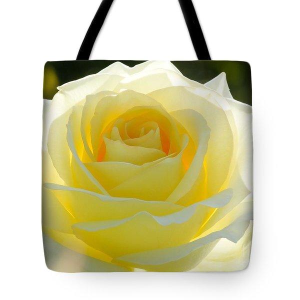 Mellow Yellow Rose Tote Bag by Sabrina L Ryan