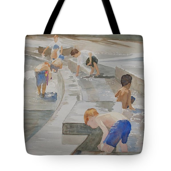 Memorial Day Waterworks Tote Bag by Jenny Armitage