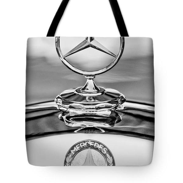 Mercedes Benz Hood Ornament 2 Tote Bag by Jill Reger