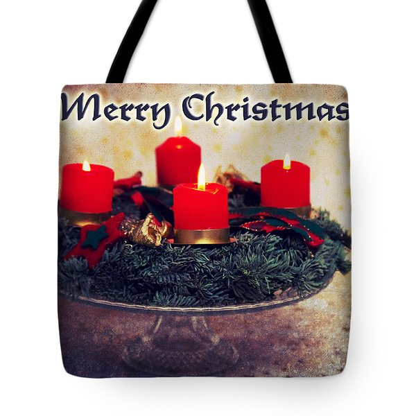 Merry Christmas Tote Bag by Angela Doelling AD DESIGN Photo and PhotoArt