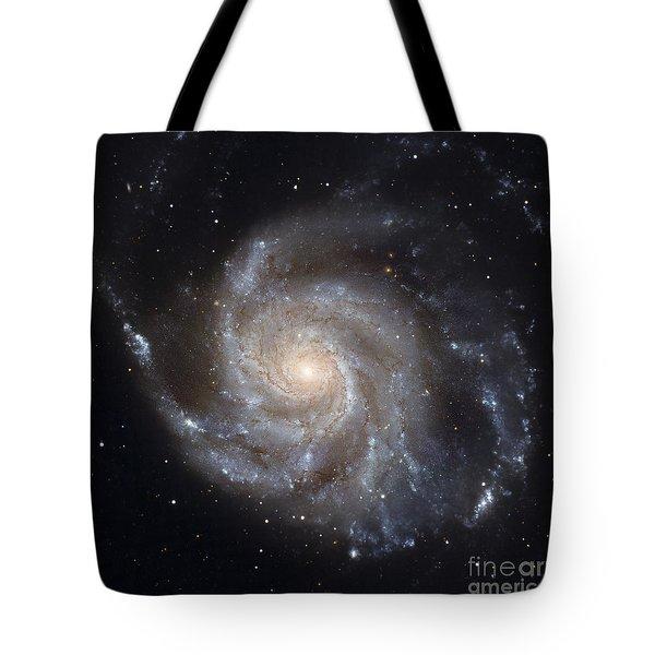 Messier 101, The Pinwheel Galaxy Tote Bag by Stocktrek Images