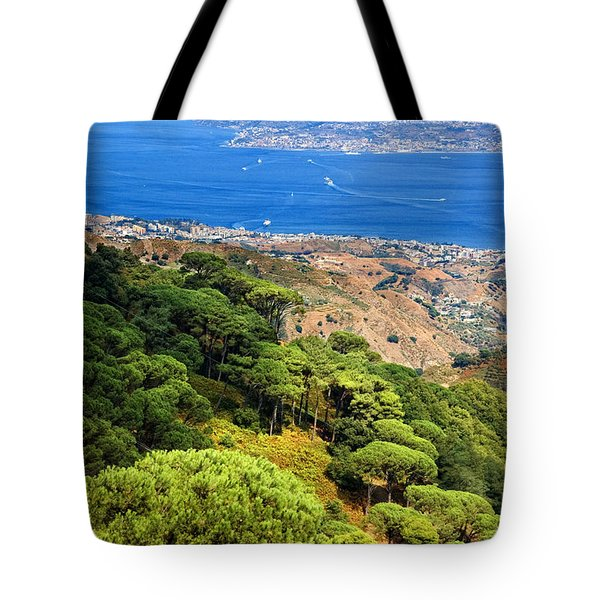 Messina Strait - Italy Tote Bag by Silvia Ganora
