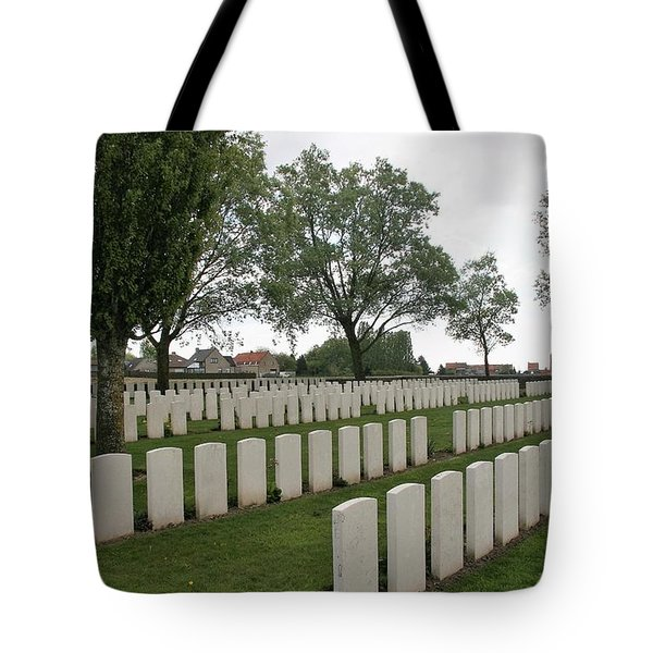 Tote Bag featuring the photograph Messines Ridge British Cemetery by Travel Pics