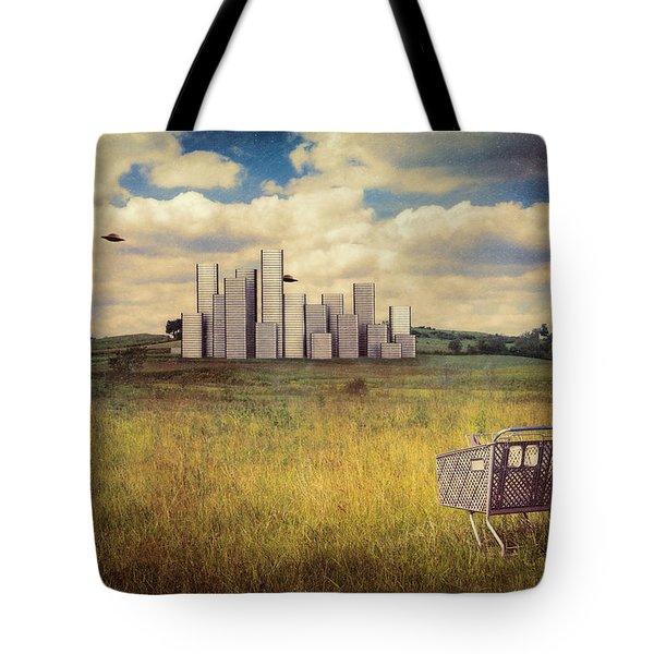 Metropolis Tote Bag by Tom Mc Nemar