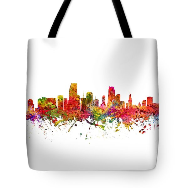 Miami Cityscape 08 Tote Bag by Aged Pixel
