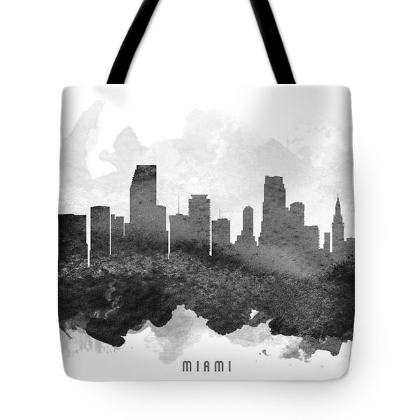 Miami Cityscape 11 Tote Bag by Aged Pixel