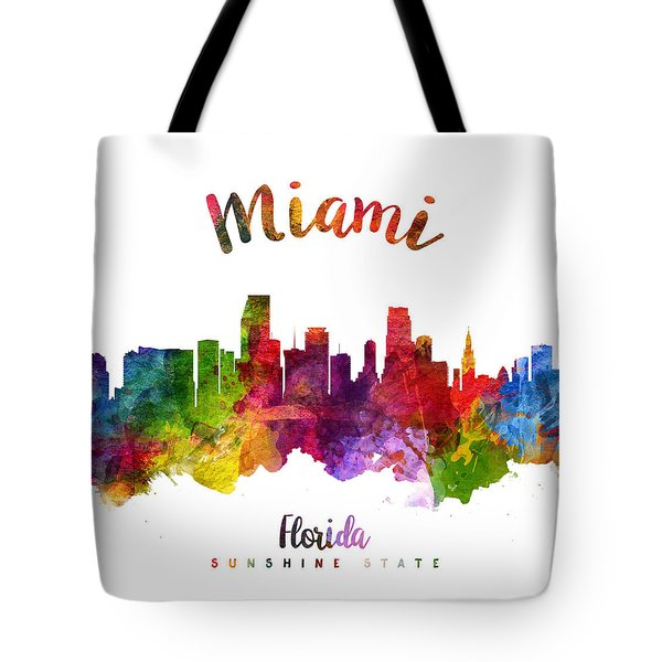 Miami Florida 23 Tote Bag by Aged Pixel