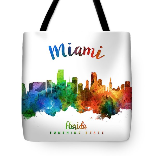 Miami Florida 25 Tote Bag by Aged Pixel