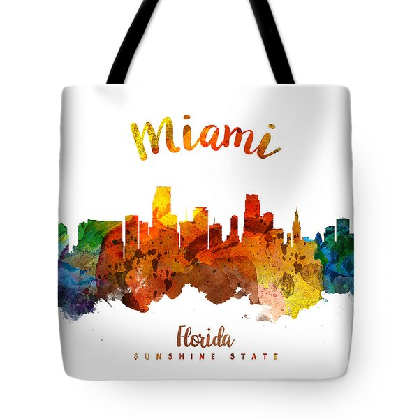 Miami Florida 26 Tote Bag by Aged Pixel