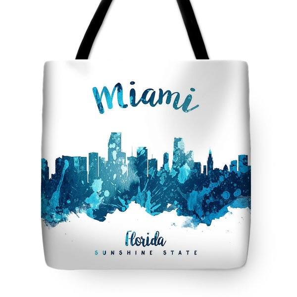 Miami Florida 27 Tote Bag by Aged Pixel