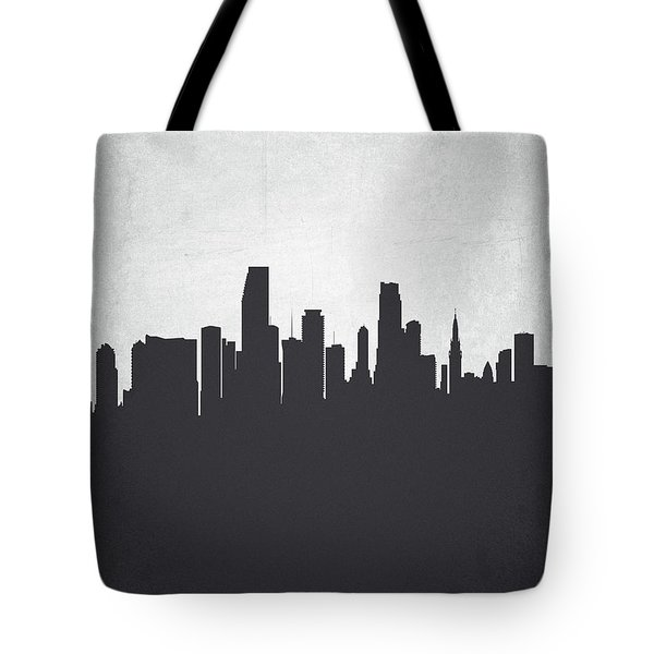 Miami Florida Cityscape 19 Tote Bag by Aged Pixel