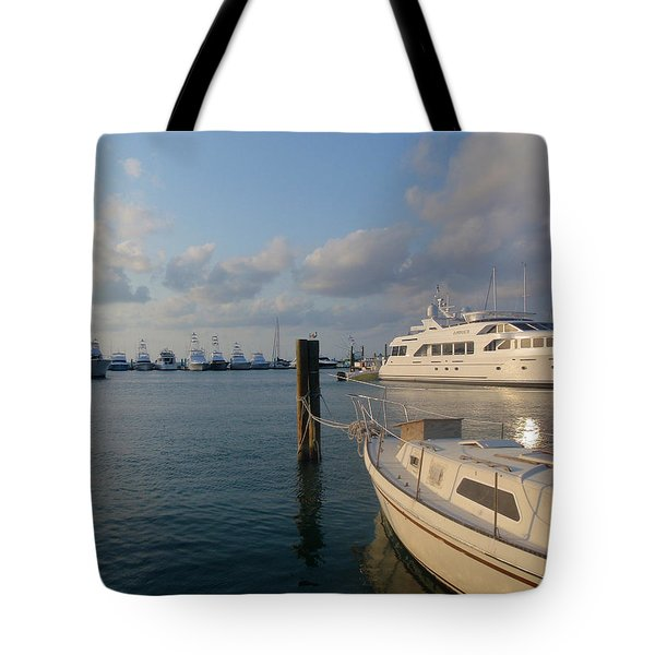 Miami Harbor Tote Bag by JAMART Photography