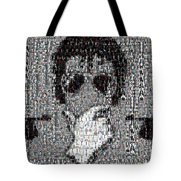 Michael Jackson Glove Montage Tote Bag by Paul Van Scott