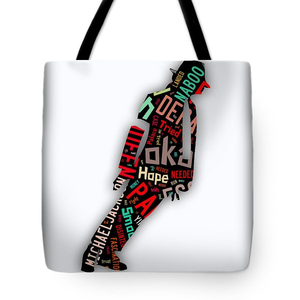 Michael Jackson Smooth Criminal Tote Bag by Marvin Blaine
