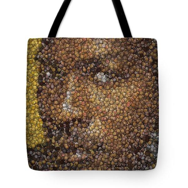 Michael Jordan Money Mosaic Tote Bag by Paul Van Scott