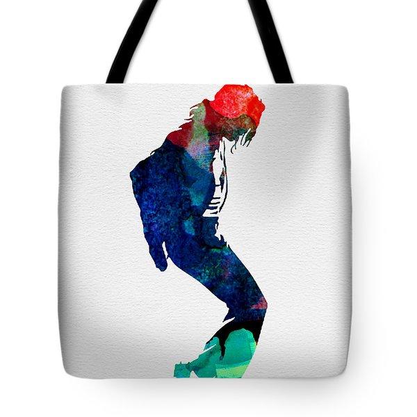 Michael Watercolor Tote Bag by Naxart Studio