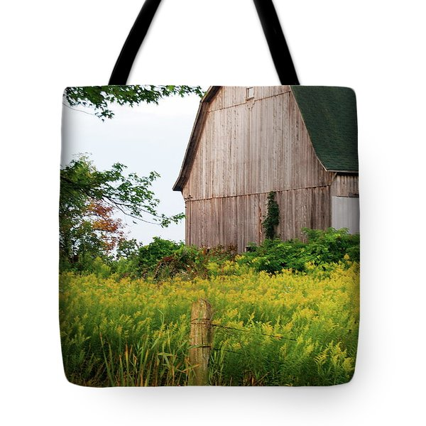 Michigan Barn Tote Bag by Michael Peychich